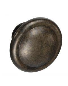 Knob Deals #1115 - 1-3/8 in. Cabinet Knob, Antique Brass