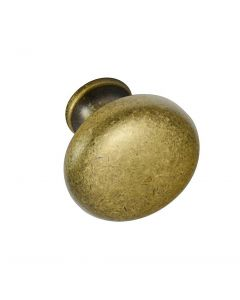 Style Selections #226705 1-3/16 in. (30mm) Cabinet Knob, Aged Brass
