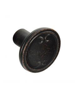 Brainerd #P17891V-VBR-C - 1-1/4 in. (32mm) Cabinet Knob - Venetian Bronze