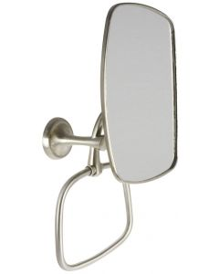 #EXTEN69BN-Magnifying Mirror with Towel Ring, Brushed Nickel