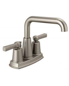 Delta Allentown 4 Inch Centerset 2-Handle Bathroom Faucet, Spotshield Brushed Nickel